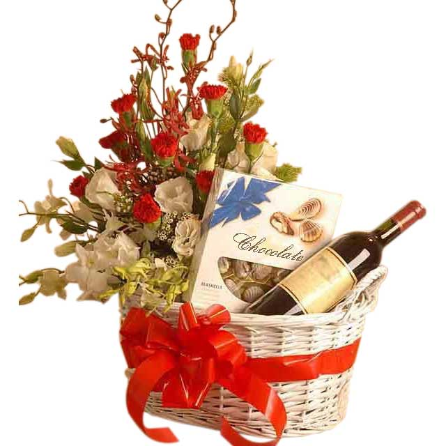 Flower Arrangements In Wine Bottles: Flowers And Gift Baskets