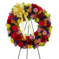 Multi-Color Standing Wreath
