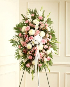 Pink & White Sympathy Standing