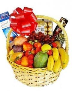 fruits & CHOCOLATE basket