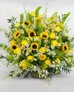 Yellow and Green Sympathy Basket