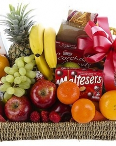 Fruit Savouries, cookies and Chocolate Basket