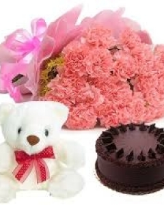 CHOCO WITH CARNATION w/teddy