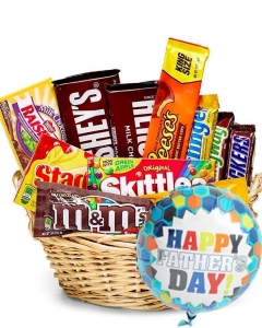 Chocolate basket w/balloon