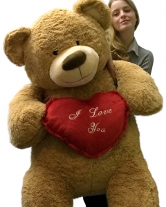 4 ft Teddy Bear with pilow